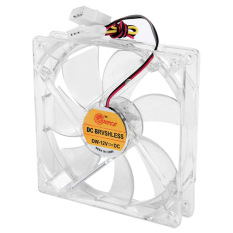 Giá 8cm Mini Quiet Clear Shell Colorful LED 4 Pin Connector Computer Desktop PC Case CPU Cooler Cooling Fan