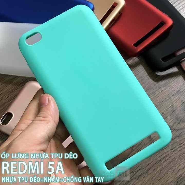 [9 màu] Ốp lưng dùng cho Xiaomi Redmi 5A nhựa TPU dẻo - nhám - chống vân tay