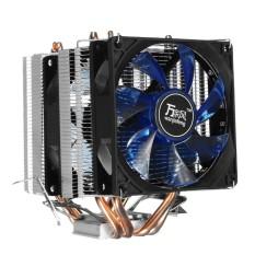90 mét Core LED CPU Quạt Tản Nhiệt Cho IntelLGA775 LGA1156/1155 AMD754 Xanh Dương
