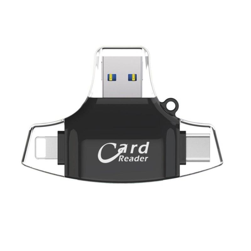 Bảng giá Allwin 4 trong 1 Điện Thoại Di Động Đầu Đọc Thẻ USB Loại C Cổng Kết Nối OTG HUB Adapter TF-quốc tế Phong Vũ