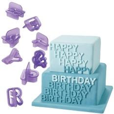 Hình ảnh Alphabet Letter Number Cookie Fondant Mold Cake 40PCS Decor Cookie Mould Cutter - intl