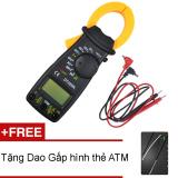 Giá Bán Ampe Kim Cầm Tay Kẹp Vạn Năng Multimeter Digital Vc3266L Tặng Dao Gấp Atm Digital Nguyên