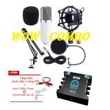 Giá Bán Rẻ Nhất Ampli Karaoke Cho May Tinh Điện Thoại Sound Card Xox K10 Mic Bm800 Phụ Kiện Từ A Z Ban Mic Thu Am