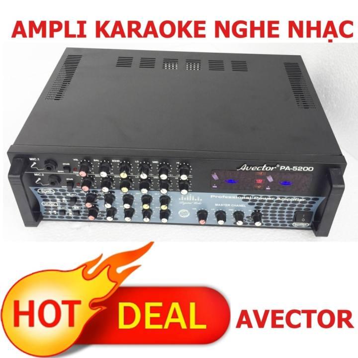 Ampli karaoke gia đình Amply nghe nhạc AVECTOR PA 5200 Giảm giá cực rẻ.