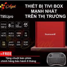 Chiết Khấu Android Tivi Box Chinh Hang T95U Mạnh Nhất Thị Trường Rom 16G Ram 2G Kết Nối Am Thanh Bluetooth Tặng Chuột Ban Phim Agol Trong Hồ Chí Minh