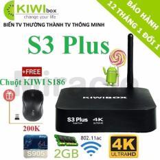 Bán Android Tivi Box Kiwibox S3 Plus Ram 2G Tặng Chuột Kiwi S186 Trị Gia 200K Có Thương Hiệu Nguyên