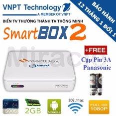 Mua Android Tivi Box Vnpt Smartbox 2 Trắng Tặng Cặp Pin 3A Panasonic Cao Cấp Phan Phối Bởi Miracles Company Hồ Chí Minh