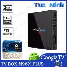 Android TV Box M96x Plus phiên bản Ram 2GB, bộ nhớ trong 16GB, CPU 8x Amlogic S912, Android 7 - Tivi thường thành SmartTV Android