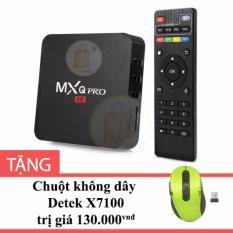 Bán Android Tv Box Mxq Pro 4K Mau Đen Tặng Chuột Khong Day Detek X7100 Rẻ Vietnam