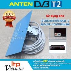 Anten bảng LTP Việt Nam dùng cho tivi tích hợp, đầu thu DVB T2 có cáp dài 13m