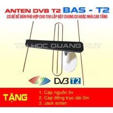 Hình ảnh Anten DVB T2 có đế cho tivi lắp ở khu chung cư, nhà cao tầng tặng 3 phụ kiện