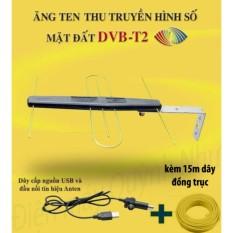 Hình ảnh Anten khuếch đại DVB T2 + dây cấp nguồn 5V + 15m dây đồng trục đúc sẵn đầu jack
