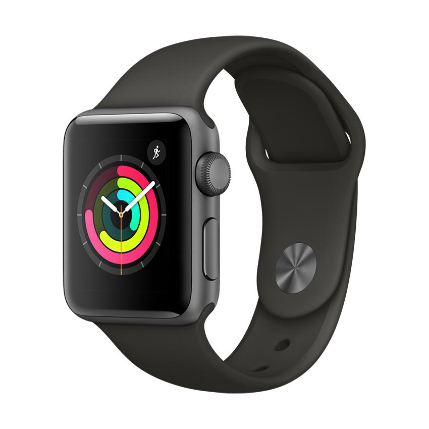 Hình ảnh Apple Watch Series 3 GPS 38mm Space Grey Aluminium Case with Black Sport Band