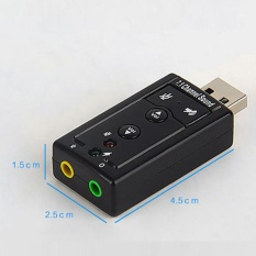 Hình ảnh Audio Usb 7.1 Canali Esterna 3D Sound Adattatore Pc Notebook Card Adapter - intl