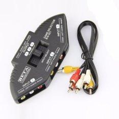 Hình ảnh AV RCA Công Tắc Nút Chọn Hộp Bộ Chia bộ Chuyển đổi + Cáp RCA-quốc tế