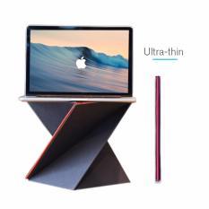 Bàn gập gọn thông minh LEVIT 8 để Macbook,Laptop , gấp gọn thành quyển sổ, chịu lực đến 20 kg và chống thấm nước - (Đen)