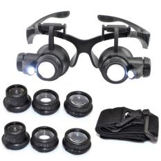 Hình ảnh Bán kính bảo hộ - Kính lúp sửa chữa, Đèn LED siêu ánh sáng, An Toàn cho mắt, Độ phóng đại đa năng 10x 15x 20x 25x- dòng sản phẩm CAO CẤP.
