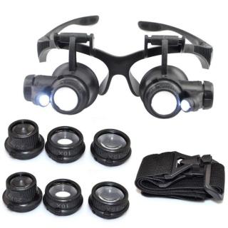 Bán kính bảo hộ - Kính lúp sửa chữa, Đèn LED siêu ánh sáng, An Toàn cho mắt, Độ phóng đại đa năng 10x 15x 20x 25x- dòng sản phẩm CAO CẤP. thumbnail