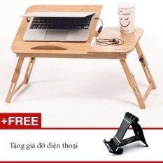 Hình ảnh Bàn Laptop Gỗ đa năng GocgiadinhVN01 + Tặng kèm giá điện thoại