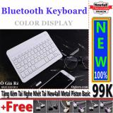 Ôn Tập Ban Phim Bluetooth New4All V100 Cho Điện Thoại Thong Minh Trắng Tặng 01 Tai Nghe Nhet Tai New4All Piston Basic