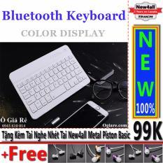 Chiết Khấu Ban Phim Bluetooth New4All V100 Cho Điện Thoại Thong Minh Trắng Tặng 01 Tai Nghe Nhet Tai New4All Piston Basic Hồ Chí Minh