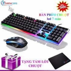 Hình ảnh Bộ bàn phím và chuột G21 ĐEN chuyên Game Led (Tặng miếng lót chuột)