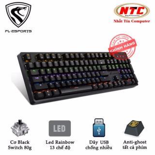 [HCM]Bàn phím cơ Blue Swich cao cấp FL Esports K188 dành cho game thủ chuyên nghiệp - led Rainbow 13 chế độ (đen) - Nhất Tín Computer thumbnail