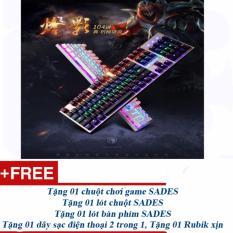 Bàn phím cơ chơi game SADES top 1 thị trường Trung Quốc + nhiều quà tặng