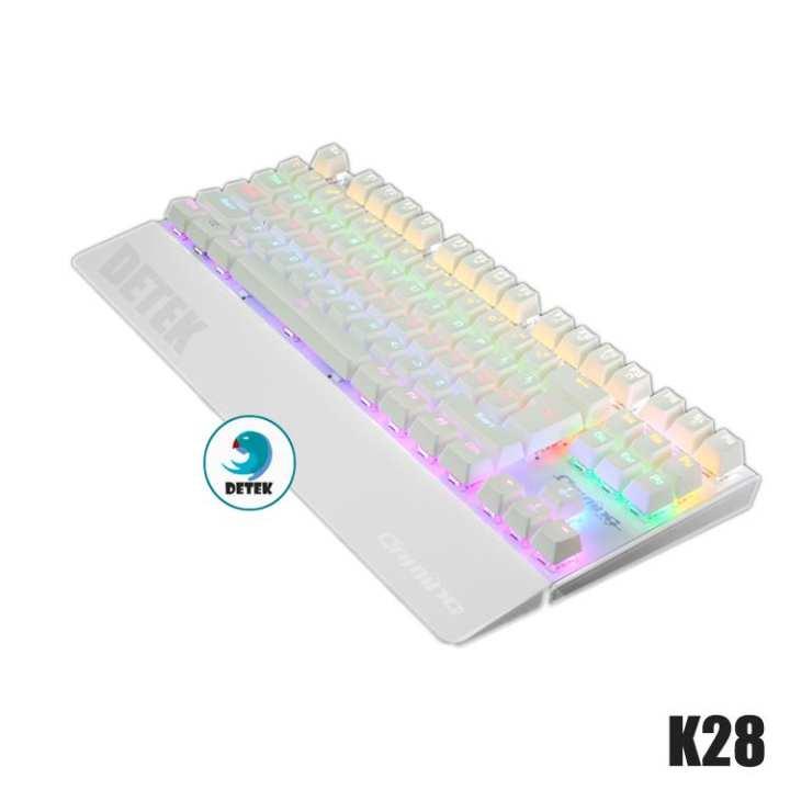 Bàn phím cơ game thủ Detek K28 (CK87) có đèn LED (nhiều màu)