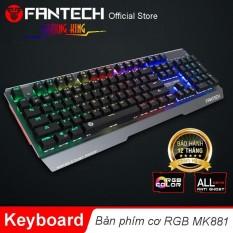 Hình ảnh Bàn phím cơ Full size RGB Backlit Ghost Gaming - Fantech MK881 (PHÍM XANH)
