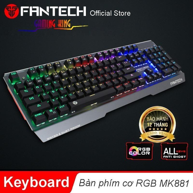 Bàn phím cơ Full size RGB Backlit Ghost Gaming - Fantech MK881 (PHÍM XANH)