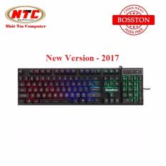 Hình ảnh Bàn phím giả cơ chuyên game Bosston G803 Led 7 màu - Version 2017 (Đen) - Hãng phân phối chính thức