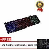 Bàn phím giả cơ chuyên Game Led R8 1822 - Model 2017 (Đen) - Tặng 1 miếng lót chuột chơi game R8