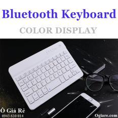 Bàn phím không dây Bluetooth V100 cho điện thoại thông minh (trắng)