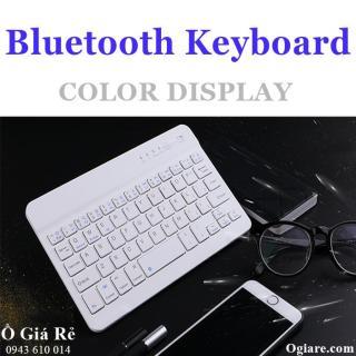 [HCM]Bàn phím không dây Bluetooth V100 cho điện thoại thông minh (trắng) thumbnail
