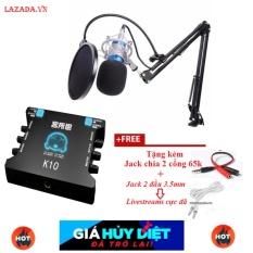 Giá Bán Ban Sound Card Xox K10 Combo Bộ Mic Thu Am Bm800 Full Phụ Kiện Rẻ Nhất Lazada Sound Card Karaoke