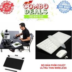 Hình ảnh Bảng vẽ Wacom Intuos Draw Pen Small CTL-490 - Hãng Nhập Khẩu + Bộ Bàn phím chuột Ultra Thin Wireless