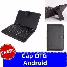 Hình ảnh Bao da bàn phím máy tính bảng 10 inch + cáp otg android