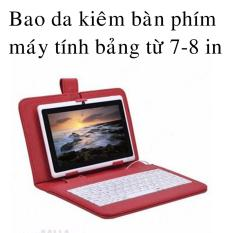 Hình ảnh Bao da bàn phím máy tính bảng 7 inch - 8 inch có giá đỡ (đỏ)