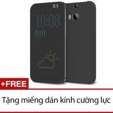 Cửa Hàng Bao Da Dot View Cho Htc One E8 Đen Tặng 1 Miếng Dan Kinh Cường Lực Cho Htc One E8 Glass Trong Hà Nội