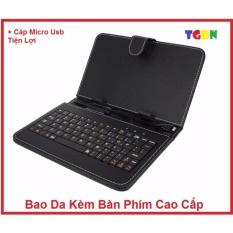 Hình ảnh Bao da kèm bàn phím cổng Micro USB cho điện thoại/ máy tính bảng 7 inch cao cấp