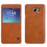 Chiết Khấu Bao Da Nillkin Qin Cho Samsung Galaxy Note 5 Mau Nau Hà Nội