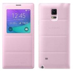 Giá Bán Bao Da S View Cover Danh Cho Samsung Galaxy Note 4 Hồng Mới