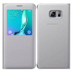 Giá Bán Bao Da S View Danh Cho Samsung Galaxy S6 Edge Plus Xam Bạc Mới