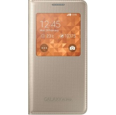 Bán Bao Da Samsung Galaxy Alpha Vang Champange Rẻ Hà Nội