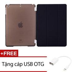 Bao Da Smart Cover Da Mỏng Danh Cho Ipad Mini 4 Đen Tặng 1 Cap Usb Otg Oem Chiết Khấu 30