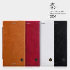 Mua Bao Da Sony Xperia Xz Premium Nillkin Qin Leather Case Đen Phu Kien Hot
