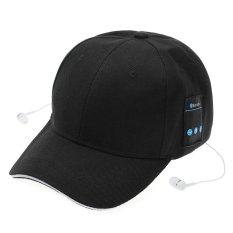 Hình ảnh Mũ Lưỡi Trai bóng chày kiêm phát Nhạc kết nối Bluetooth (Đen) - Hàng Quốc tế