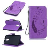 Giá Bán Beautiful Pattern Embossing Pu Leather Flip Magnet Wallet Stand Card Slots Case Cover For Motorola Moto G 4Th Gen Moto G4 Plus Purple Intl Not Specified Trung Quốc