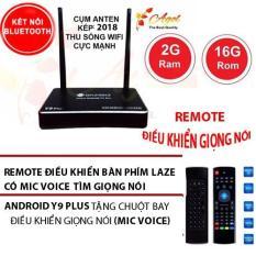 Hình ảnh biến tivi thường thành tivi thông minh box 2G Ram 16G Rom 2018 có điều khiển giọng nói kiêm chuột bay bluetooth cụm anten kép Y9 plus tặng ứng dụng xem phim , truyền hình cáp miễn phí vĩnh viễn